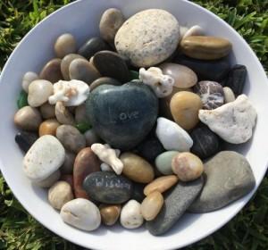 healing rocks after some taken